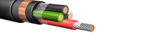 HW272: 600V/1kV Four Conductor Power Cable, Armored & Sheathed