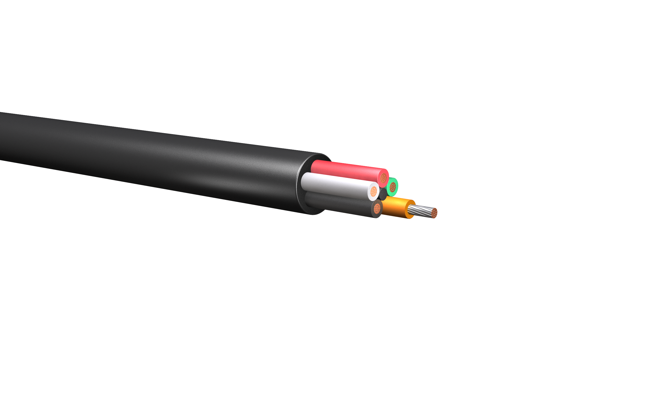 HW273: 600V/1kV Five Conductor Power Cable, Unarmored