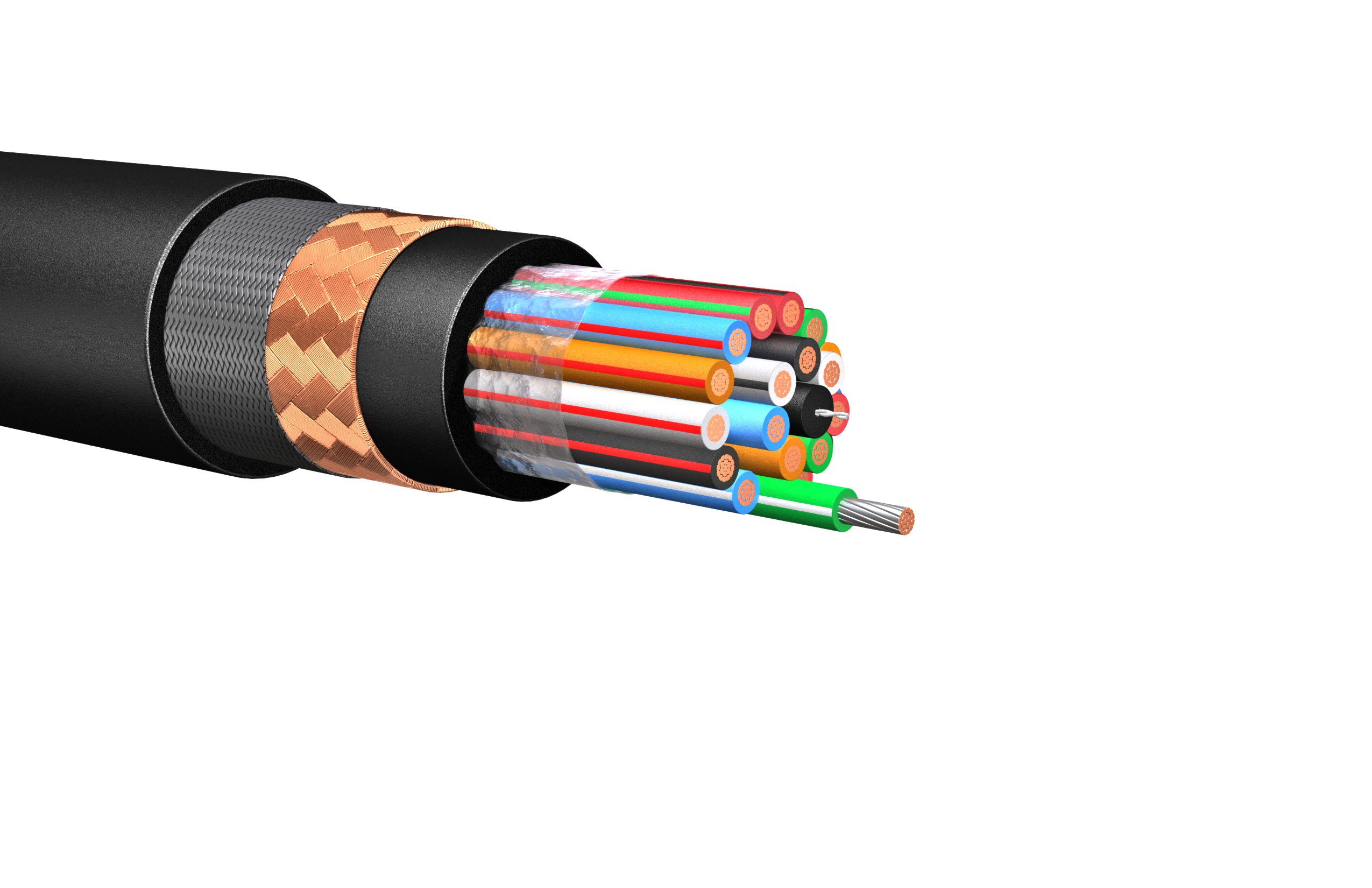 HW278: 600V/1kV Multi-Conductor Control Cable, Armored & Sheathed